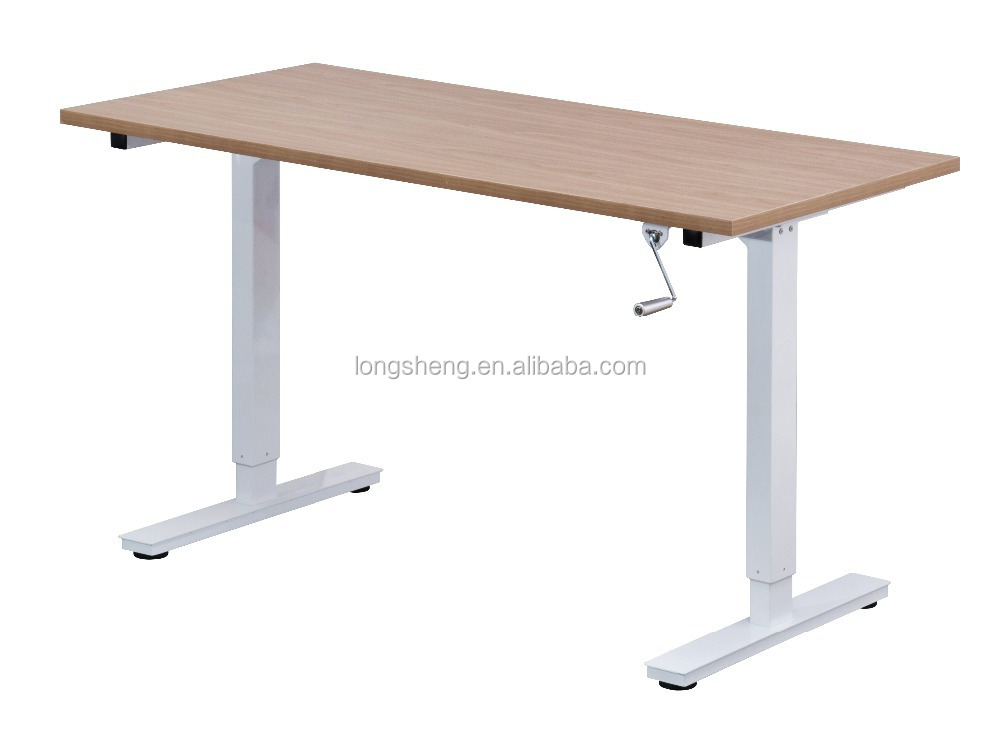 simple design adjustable height table computer desk
