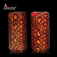 Genuine leather leopard leather phone case for iphone 5