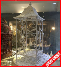 fashionable square botom white bird cage wholesale