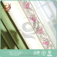 Ready made curtain supplier Bedroom use Plain lined eyelet curtains
