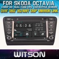 CAR VIDEO GPS FOR SKODA Octavia 2013-2014 MIRROR LINK TOUCH SCREEN CD COPY DSP FRONT DVR CAPACTIVE SCREEN