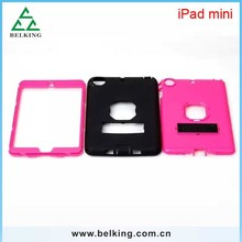 Dual Color Stand Plastic Case For iPad Mini Silicon Cover Slim Case, For iPad Mini PC Soft Silicone Case