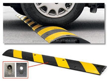 "Great Wall High Strength Plastic Speed Bump , Yellow and Black, 72"" Length, 10"" Width, 2"" Height"