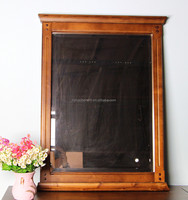 solid birch wood mirror used in bedroom with cabinet