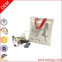 Promotional cheap logo shopping bags wax printed fabric cheap logo shopping tote bags