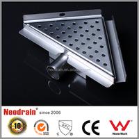 Brass plating chromium sealed type shower drain grate , roof drain 304 stainless steel