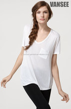 2015 hot sale 100% cotton blank women's t shirt