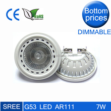 high quality cob dimmable gu10 led AR111 12v g53 AR111 led