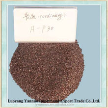 Raw material of abrasives belts brown emery with high toughness