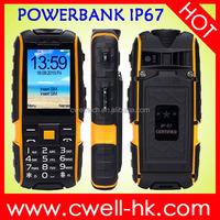 Hot sale good price ip67 waterproof dual sim card big battery mobile phone