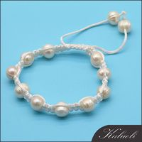 Hand knotted real pearl bead bracelet jewelry in china cheap