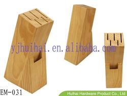 Natural Pine Wooden Knife Block EM-031