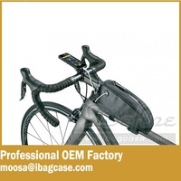 The design mount bicycle Triangle Front Pannier Frame Tube tool pouch bag bike frame