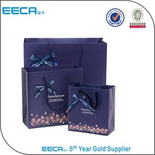Pretty personalized paper bags/large paper bags/bag shops hot sale in China