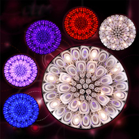 low ceiling mode colorful crystal deco chandelier