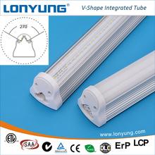 new option energy saving led lighting t8 ETL TUV SAA approved v-shape dual line led tube light 15w-38w