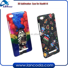 custom case 3D sublimation cell phone case mobile cover for Xiaomi 4i/xiao mi 4i in india