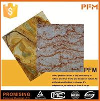 5cm Thickness China polished china nero portoro marble tiles black por