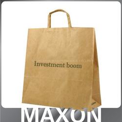 2015 Guangzhou factory custom brown craft paper bag/resealable zipper kraft paper bag