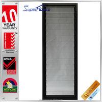 Professional Aluminum frame exterior glass louver door for apartment