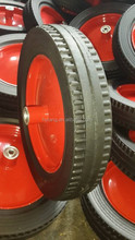 """16"""" solid rubber wheel with metal rim, ball bearing"""