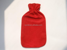 2000ml BS rubber hot water bag fleece cover in one plain color