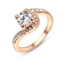 Wholesale diamond ring for women gold cheap wedding ring