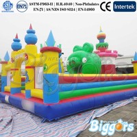 Cartoon Inflatable Bouncer With Slide Climbing Tower Inflatable Playground