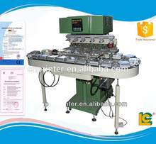LC-SPM6-150/22L Professional design Semi-automatic pneumatic six-color conveyer pad printer for plastic products supplies