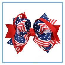 America Patriots' Day /Flag Day large ribbon hair bows