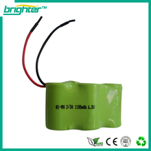 SGS CE ISO complied manufacturer 6.0V NiMh 3/2A 1100mAh battery pack