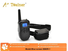 New Blue Screen Pet Training Products Remote Vibrating Dog Training Collar bark collar