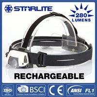 STARLITE rechargeable 280 lumens best led headlamp for fishing