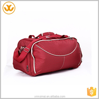 2015 top selling high quality fashion model stripe unisex multifunctional red oxford waterproof duffle bag