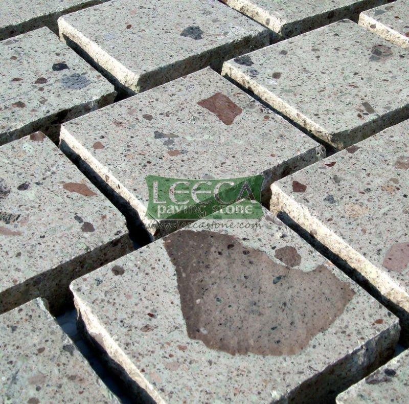 Pórfiro pedra, Cubos, Jardim piso