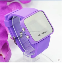 2015 Hot in China hot fashion silicone led watch mirror