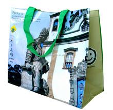 PP linen shopping bag/PP woven shopping bags manufacture