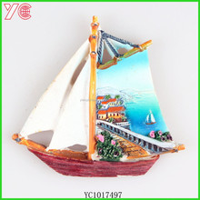 YC1017497 2015 newest items novelty gift sailing epoxy souvenir fridge magnet