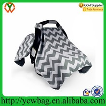 Baby sun shade carry and cover fitness Chevron Baby Infant Car Seat Cover