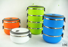 wholesale stainless steel 4 layer lunch box leakproof food container 4 layer with gasket