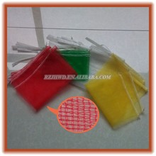 hdpe red drawstring mesh net bags for onion packaging