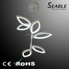 acrylic leaf style dinning room led lighting pendant