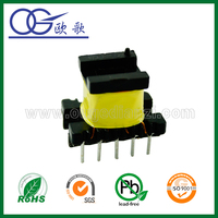 Mn-Zn PC40 ferrite core EE22 vertical high frequency transformre,step down high voltage transformer