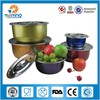 stainless steel airtight food storage/5pcs food box set keep fresh /with lid fresh box
