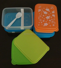 BPA free, PP plastic kids lunch box with divider & spoon-fork