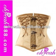 Top quality hot style sexy gothic leather steel boned corset