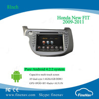 "8"" pure Android4.2 dual core Car DVD for Honda New FIT 2009-2011 with Capacitive screen Gps,3G,Wifi,Bt,Radio,AUX in,Ipod"
