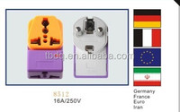 German France Iran Egypt plug with socket universal adaptor