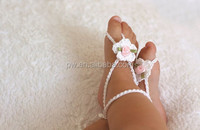 Baby Girl Barefoot Sandals Crochet Baby Sandals Newborn Girl Crochet Shoes Baby Girl Photo Props