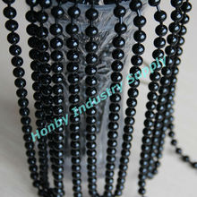 Plated black colour steel material 10mm hanging beaded window curtain